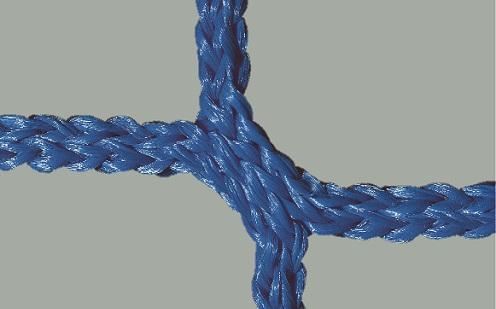 Jugendfußball-Tornetz mit 80/200 cm Auslage in Blau