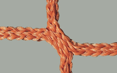 Netz für Jugendfußballtore, 80/150 cm Auslage in Orange