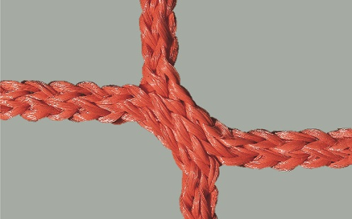 Netz für Jugendfußballtore, 80/150 cm Auslage in Rot