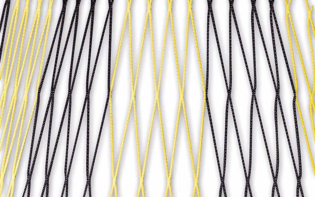 Zweifarbiges Fußballtornetz 7,32 x 2,44 m in Schwarz-Gelb