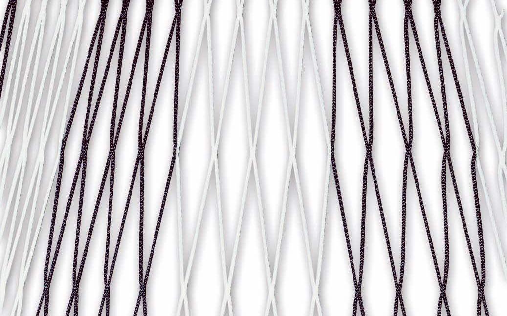 Zweifarbiges Fußballtornetz 7,32 x 2,44 m in Schwarz-Weiß