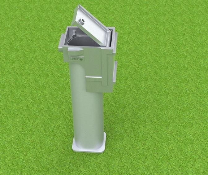 Bodenhülse Spezial für Fußballtore im Profil 100 x 120 mm, beschichtbar