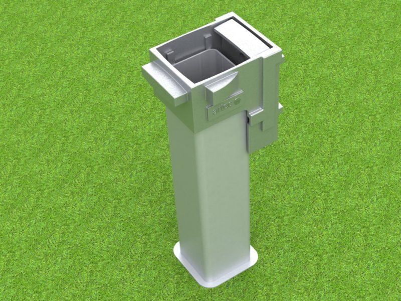 Bodenhülse Spezial für Torwände aus Aluminium