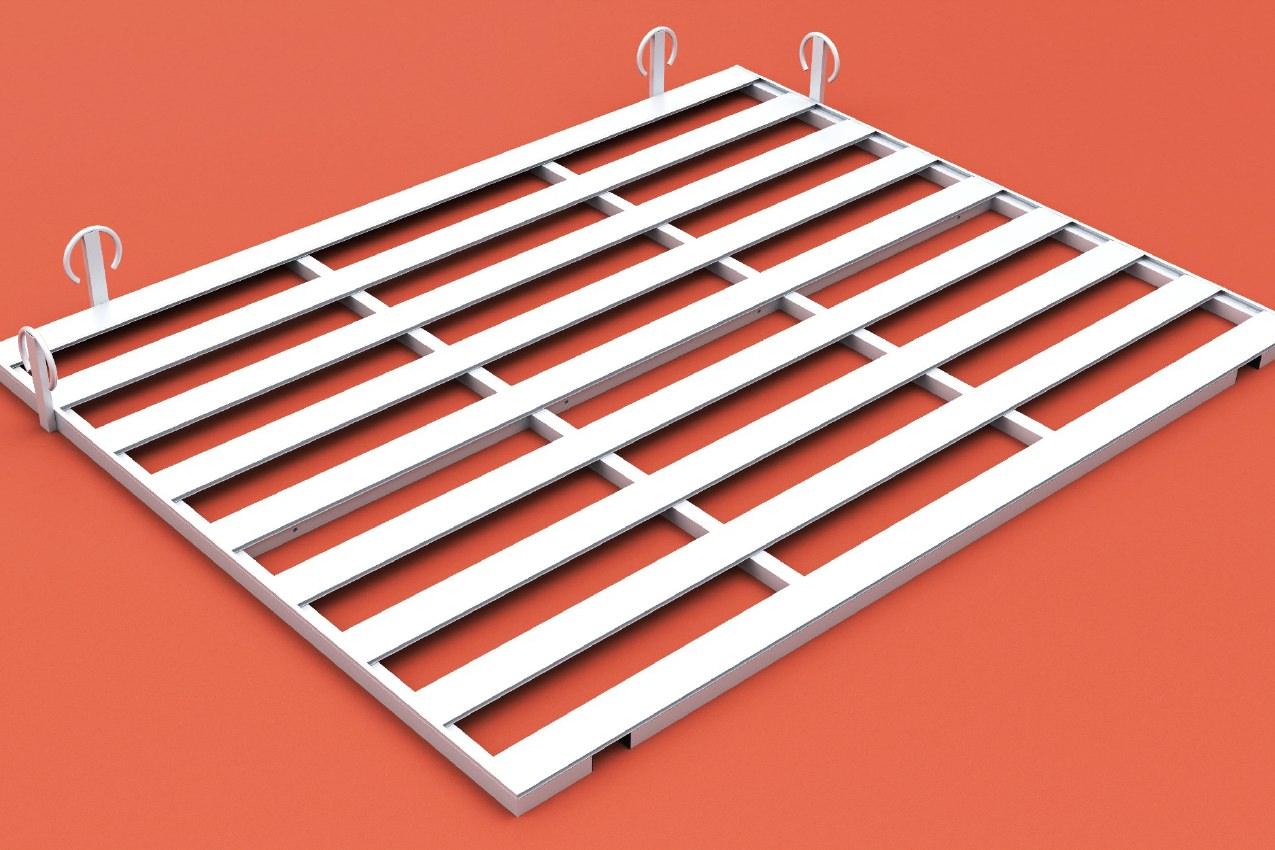 Auflageraster aus Aluminium für Hochsprungmatte, Abmessung 600 x 400 cm von artec Sportgeräte