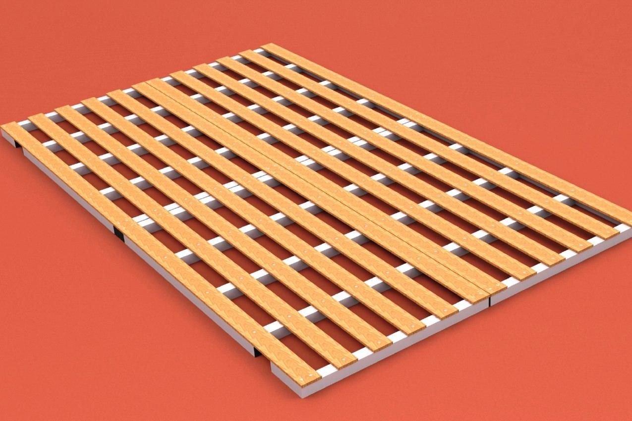 Auflageraster aus Aluminium und Holz für Matten