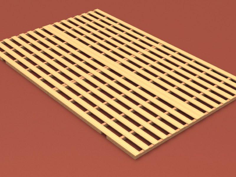 Auflageraster aus Holz für Hochsprungmatte