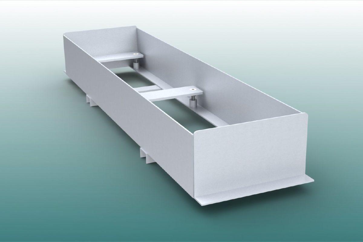 Höhenverstellbare Einbauwanne aus Aluminium für Absprungbalken Weitsprung von artec