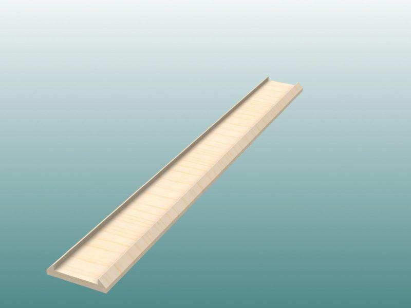 Schablone für Kontrollstreifen aus Holz von artec Sportgeräte