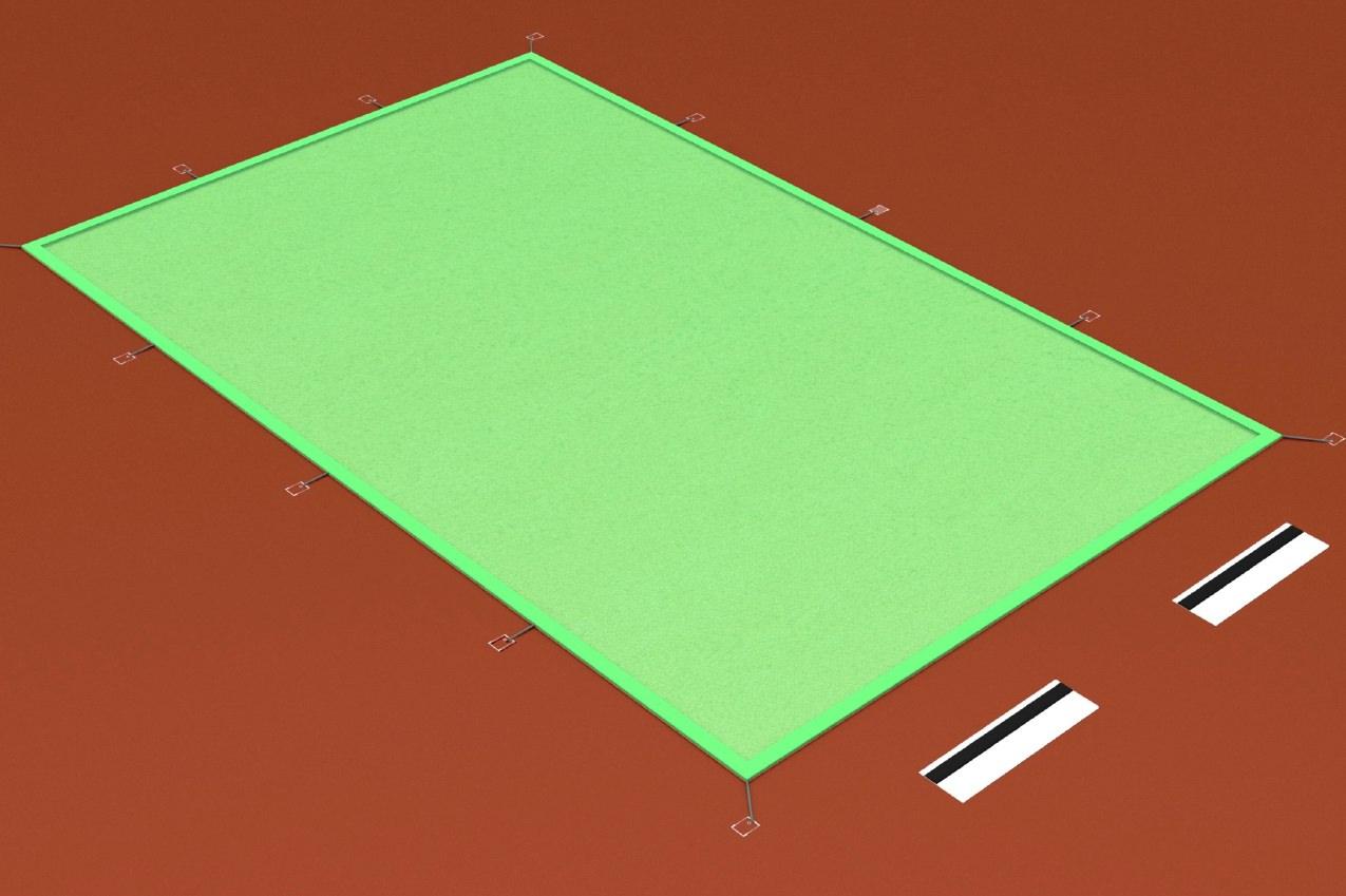 Sprunggruben-Abdeckung mit Seil und Karabinerhaken
