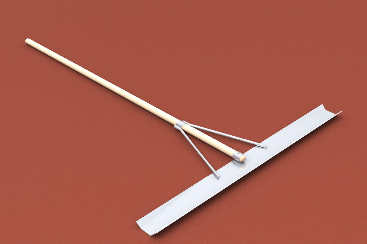 Sandglätter aus Aluminium mit Stiel von artec Sportgeräte