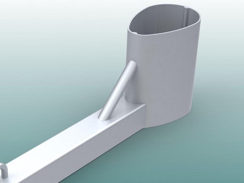 Abstandhalter für Hammer- und Diskuswurfschutzgitter