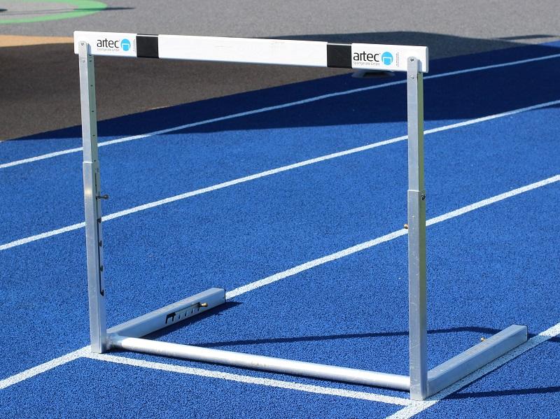 Wettkampfhürde für die Leichtathletik