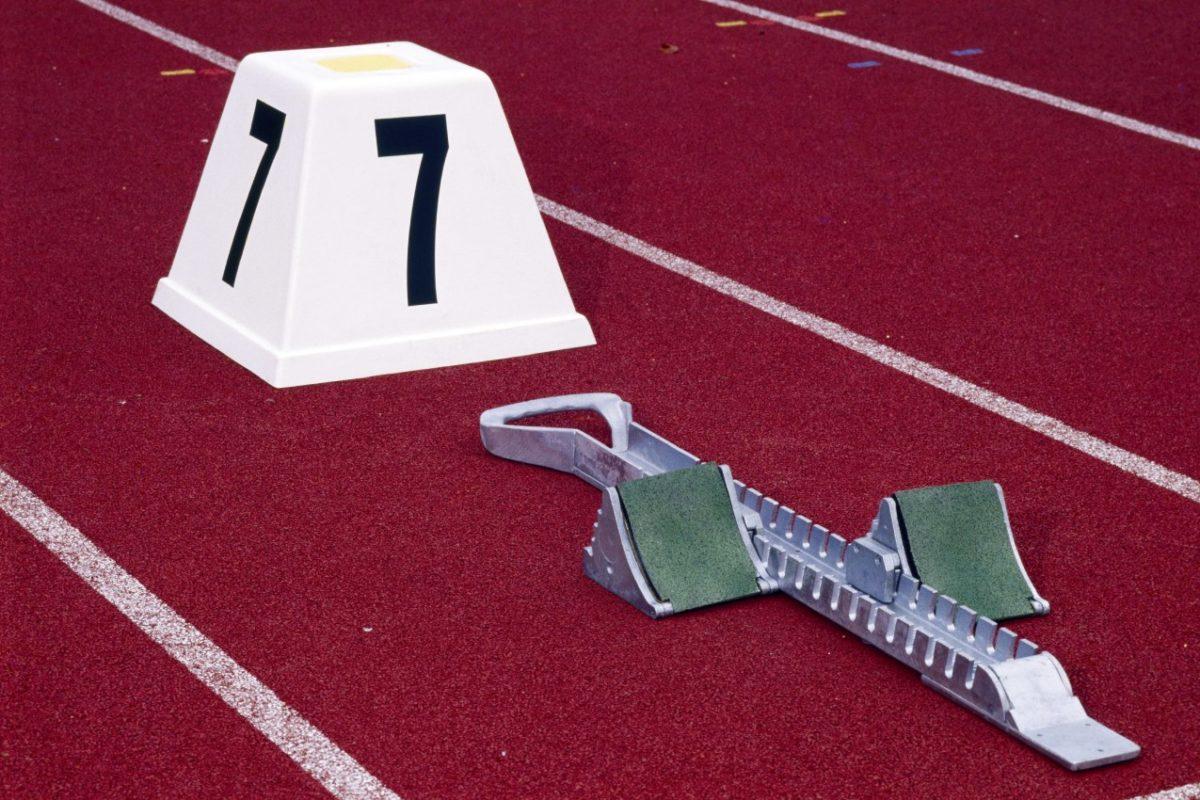 Startkasten aus GFK mit Fehlstartanzeige von artec Sportgeräte