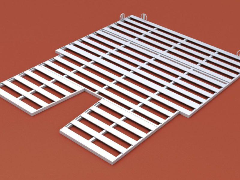 Auflageraster aus Aluminium, 8 x 6 m -easytec-