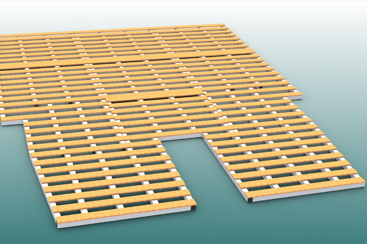 Auflageraster aus Aluminium und Holz für Stabochsprungmatte, Abmessung 800 x 600 cm von artec Sportgeräte