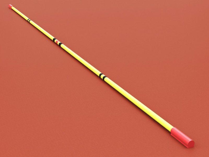 Hochsprunglatte aus Polyester, mit IAAF-Zertifikat, Länge 4,0 m von artec Sportgeräte