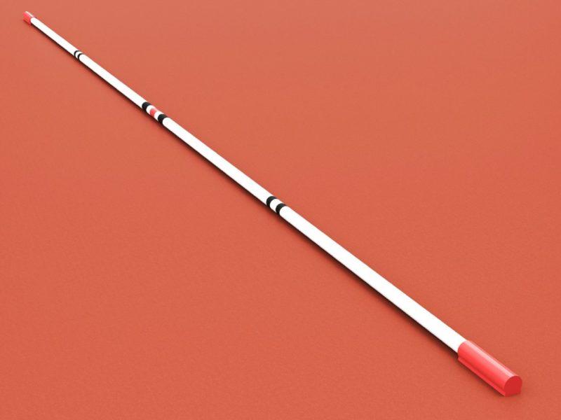 Hochsprunglatte aus Kunststoff, mit IAAF-Zertifikat, Länge 4,0 m von artec Sportgeräte