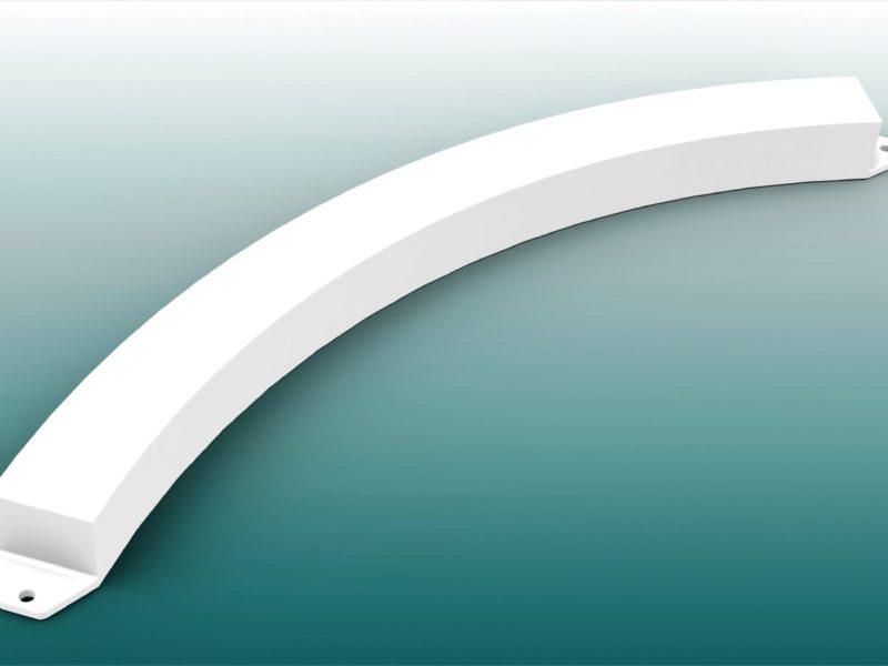 Kugelstoßbalken aus GFK mit IAAF-Zertifikat