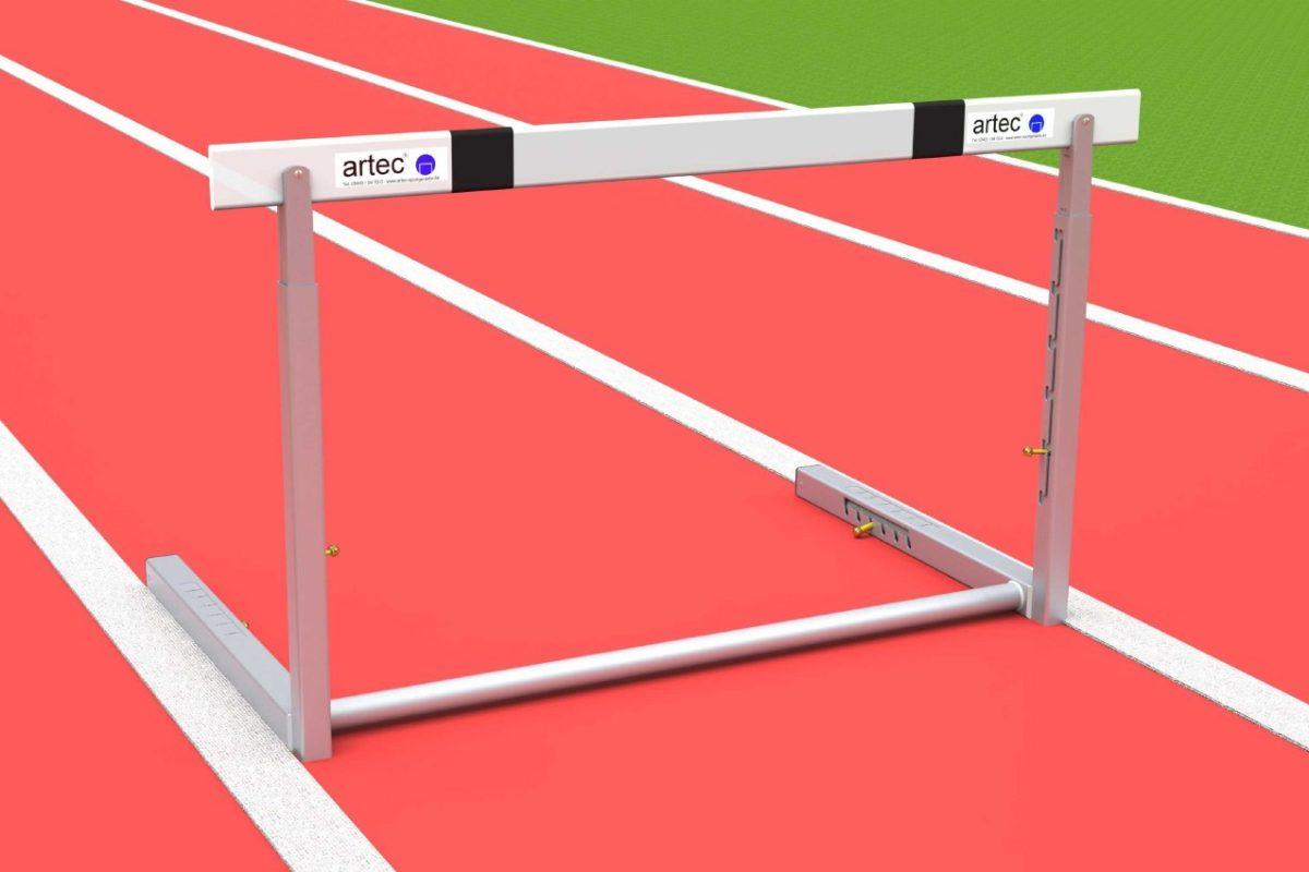 Wettkampfhürde inklusive Höhenverstellung und Gewichtsverstellung, mit IAAF-Zertifikat von artec