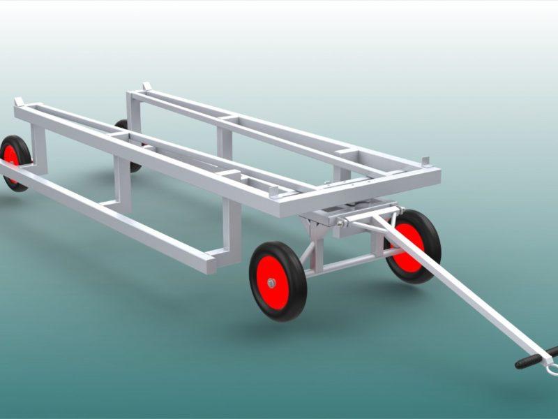 Stabiler Transportwagen für Hürden (40 Stück)