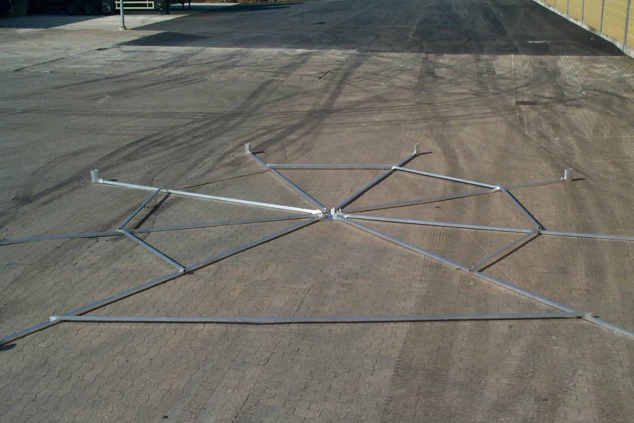 Schablone für Diskuswurfschutzgitter 4,0 m