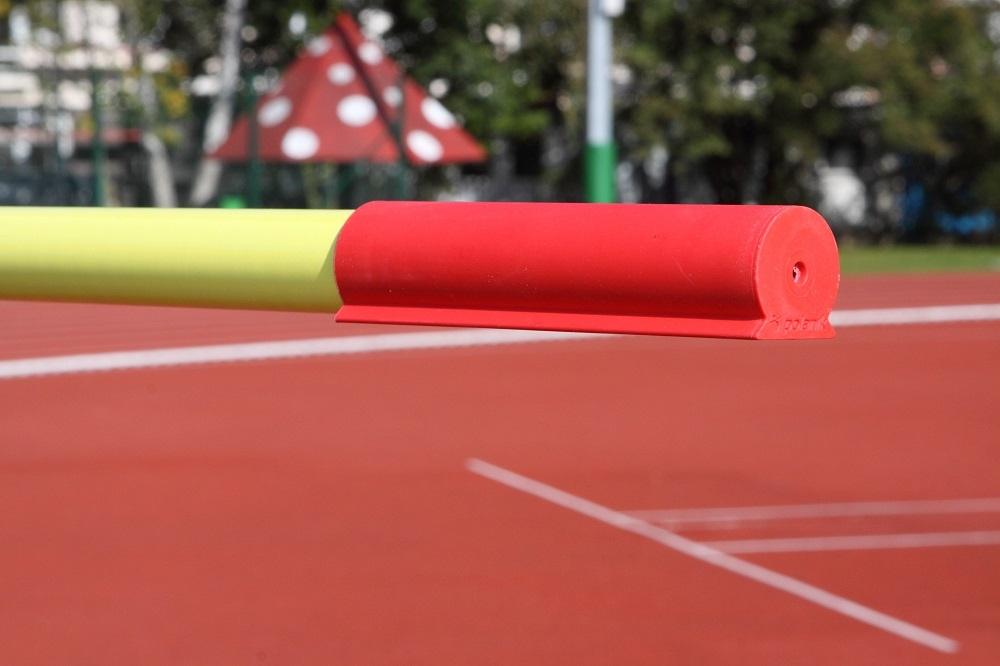 Stabhochsprunglatte aus Glasfaser für den Wettkampf, Länge 4,5 m