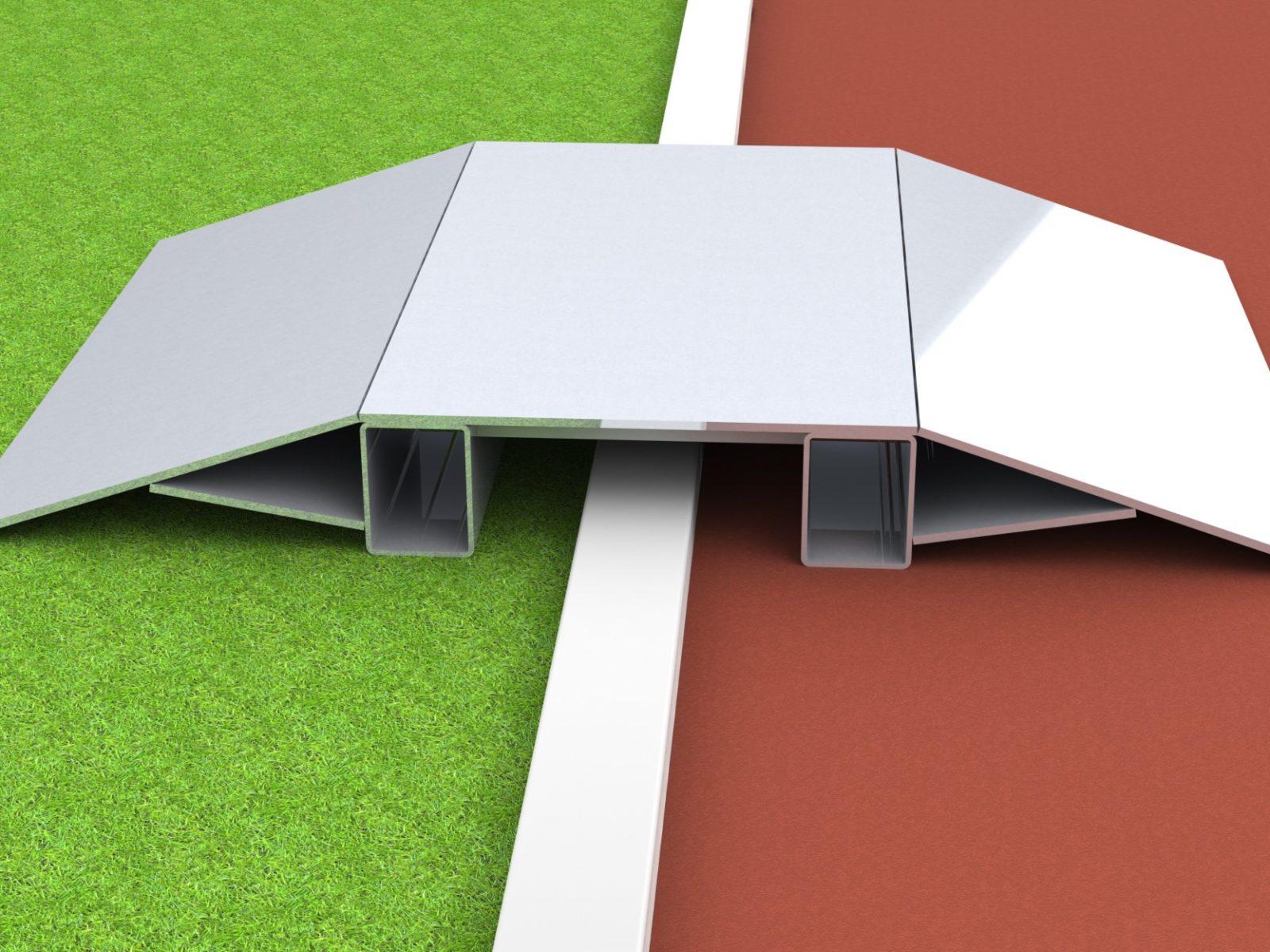 Überfahrrampe aus Aluminium für Stadion und Sportplatz mit artec Sportgeräte