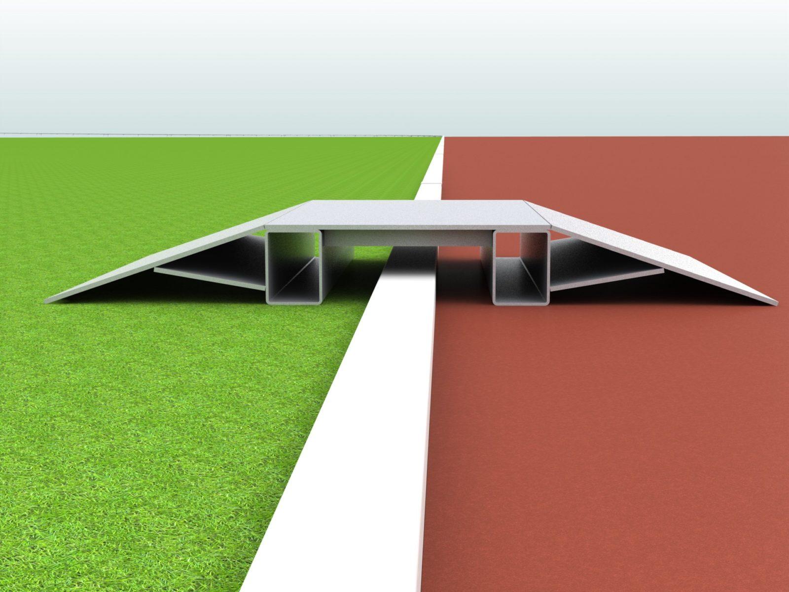 Überfahrrampe aus Aluminium für Stadion und Sportplatz artec Sportgeräte