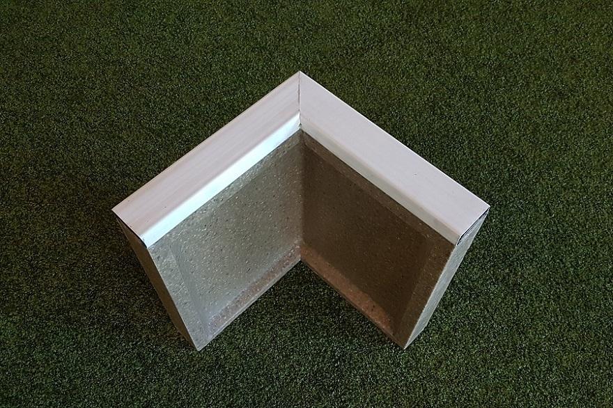 Soft-Randstein Winkel aus Faserbeton