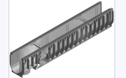Sportplatz Rinne NW 100 mm, Typ 010, aus Kunststoff für Sportanlagen, Nennweite 100 mm