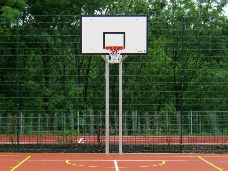 Basketballständer, Zweimast