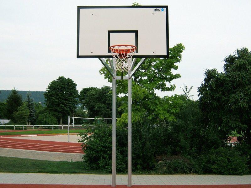 Vollverschweißter Zweimast-Basketballständer