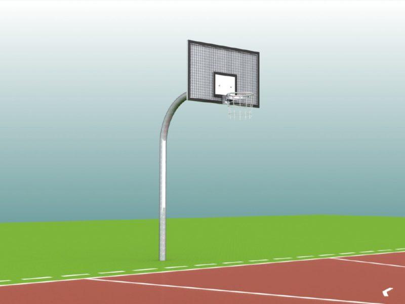 Einmast-Streetballanlage mit Zielbrett