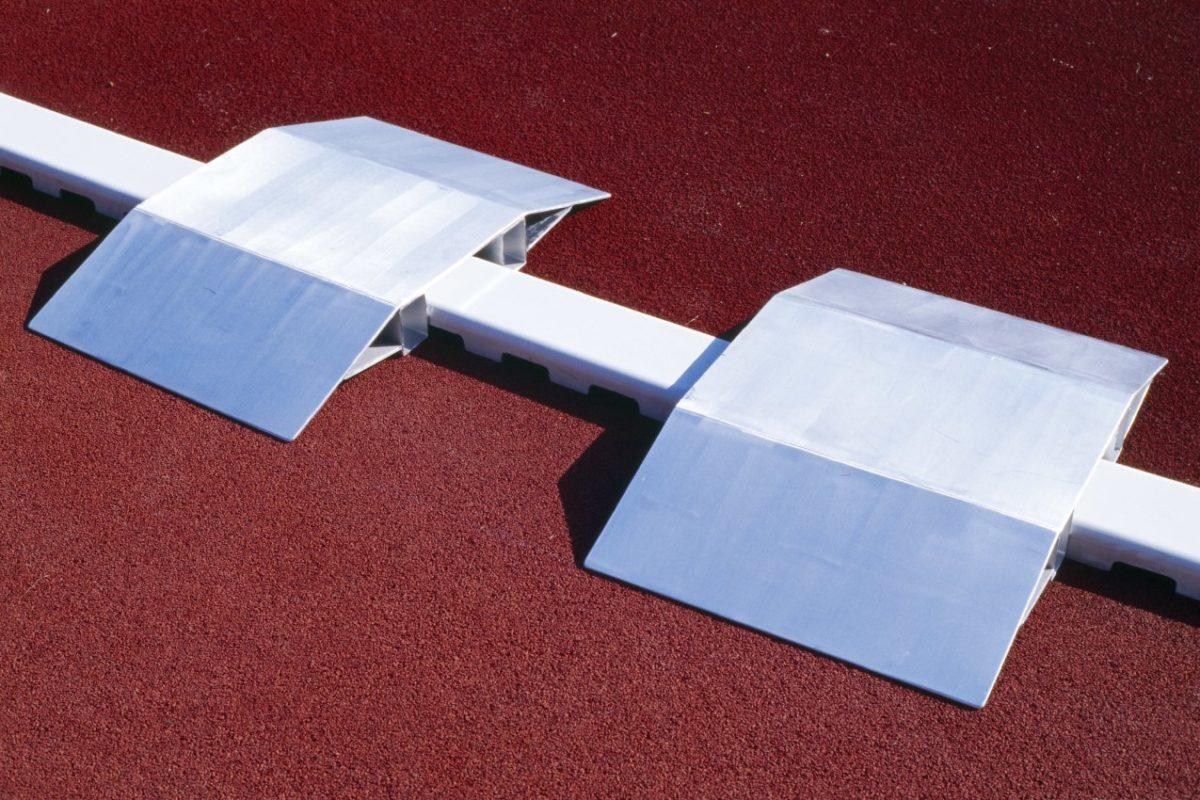 Überfahrrampe aus Aluminium für Stadion und Sportplatz artec