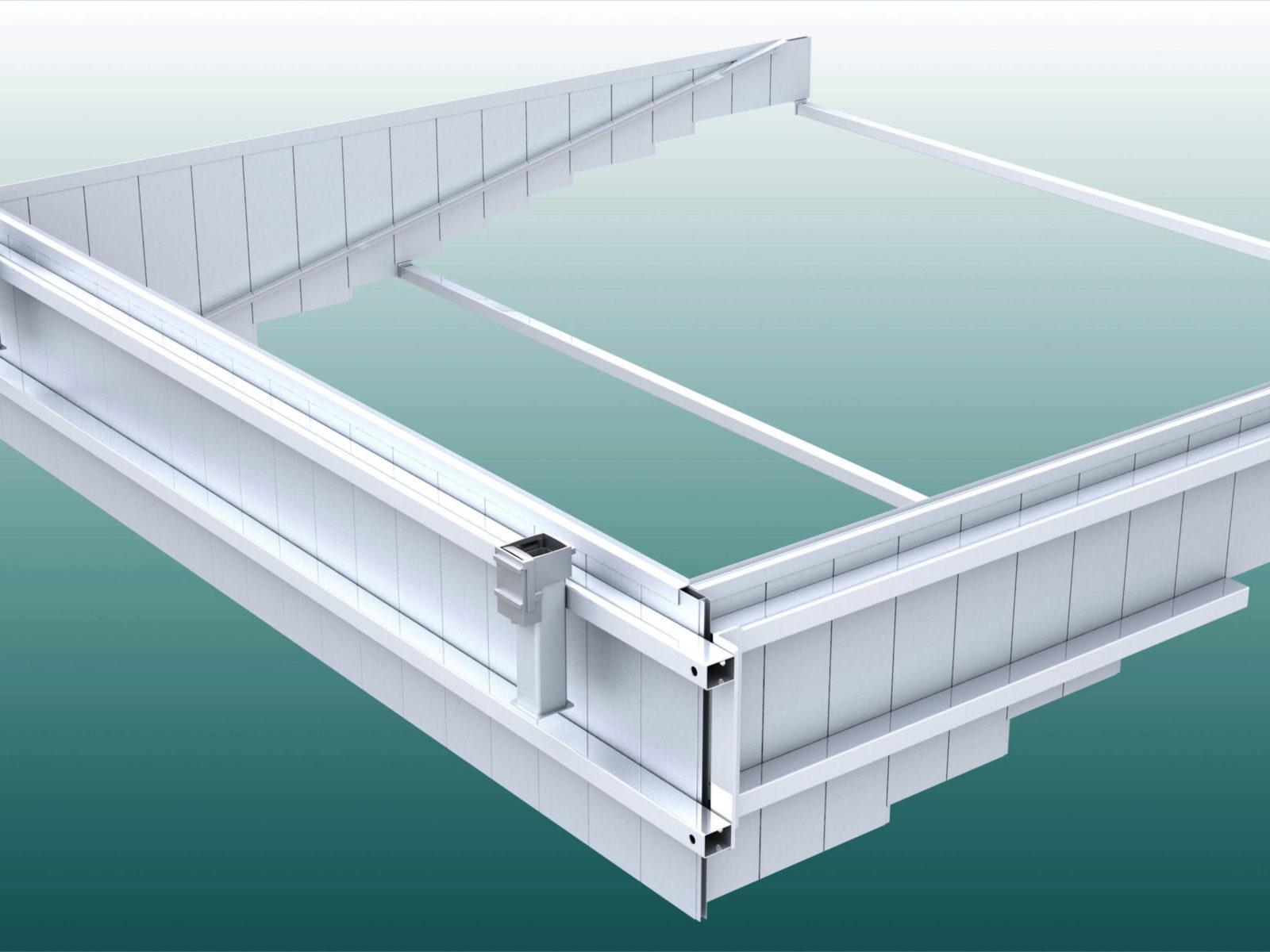 Wassergraben-Bausatz, dreiteilig aus Aluminium von artec Sportgeräte