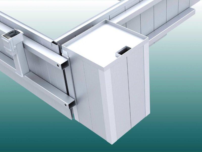 Versorgungsschacht für Wassergraben aus Aluminium