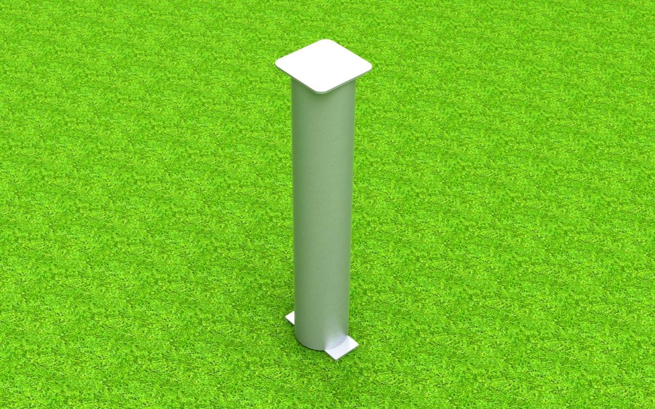Bodenhülse Standard für Ballfangpfosten aus Aluminium