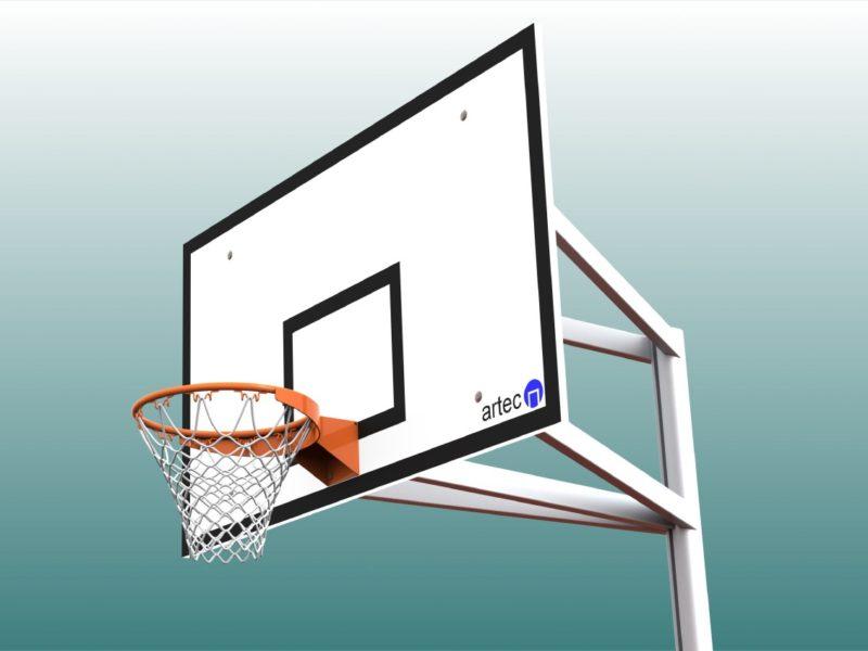 Hochwertige Basketballanlage aus Aluminium