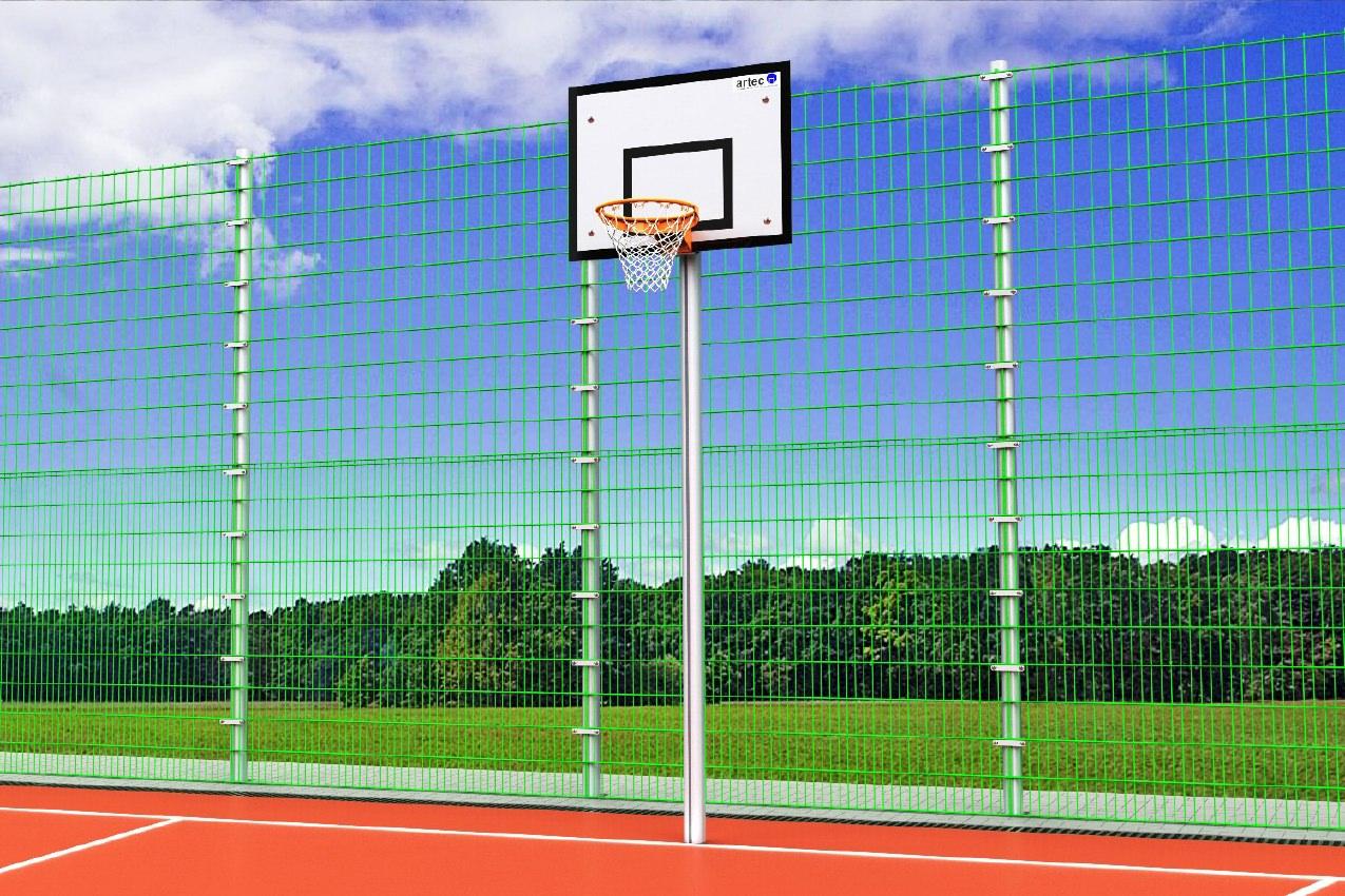 Basketballanlage ohne Ausladung aus Aluminium