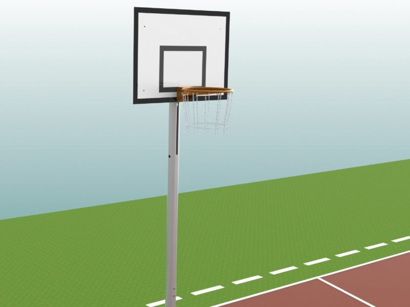 Höhenverstellbarer Basketballständer aus Aluminium