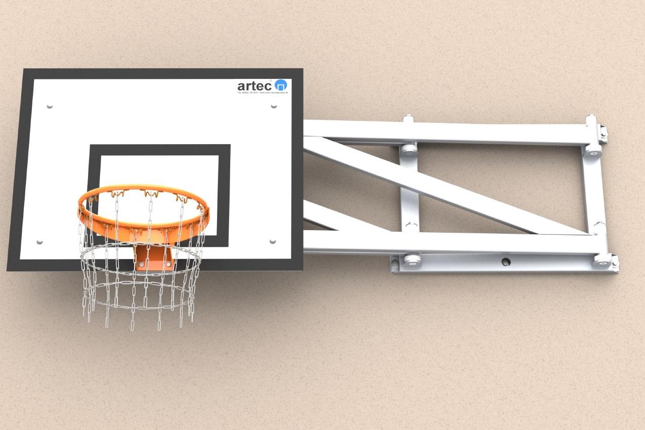 Basketballanlage zum Einklappen aus Aluminium