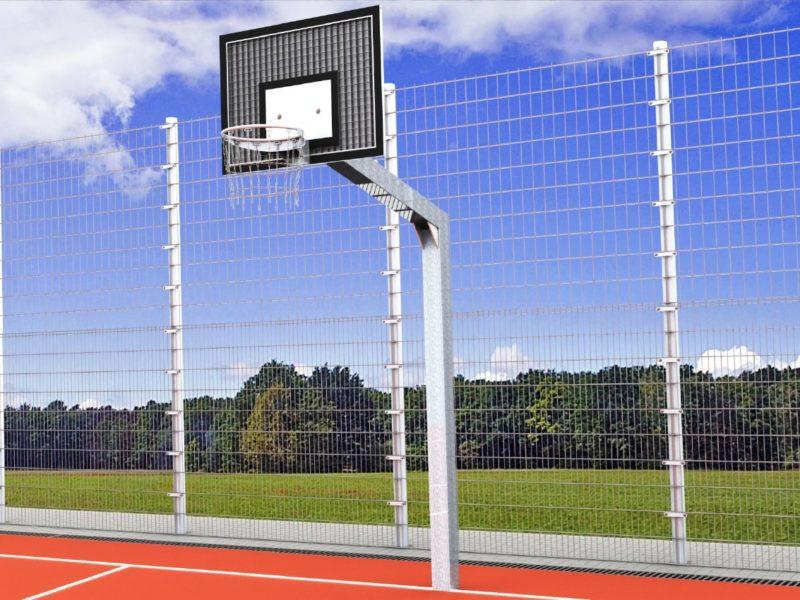 Basketballanlage Vandalo aus Stahl für Outdoor