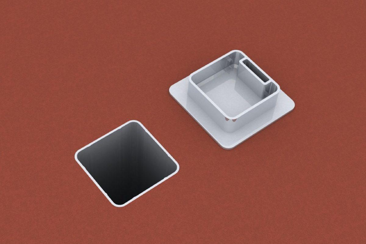 Bodenhülse Standard mit losem Deckel für Ballfangpfosten, Profil: 80 x 80 mm von artec Sportgeräte