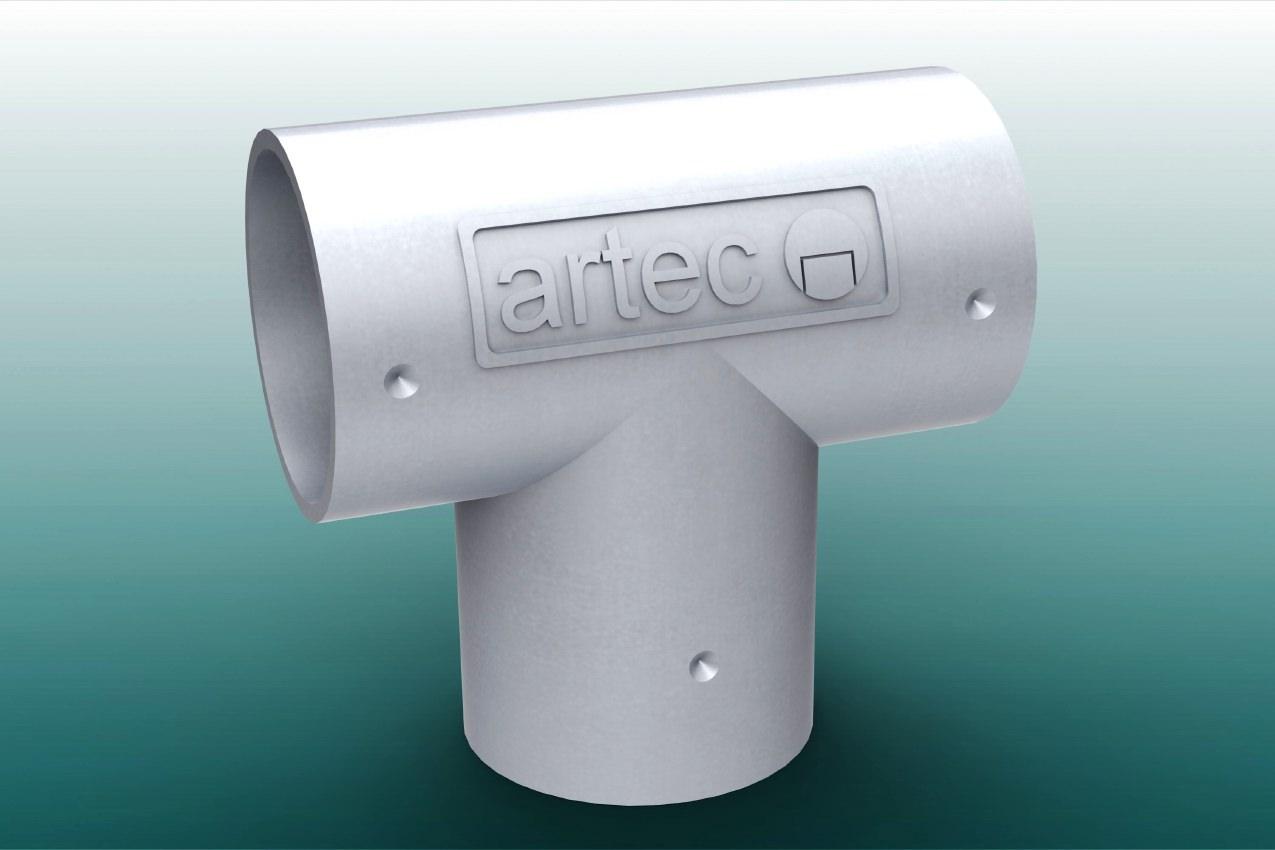 T-Verbinder für Barrieren aus Aluminium