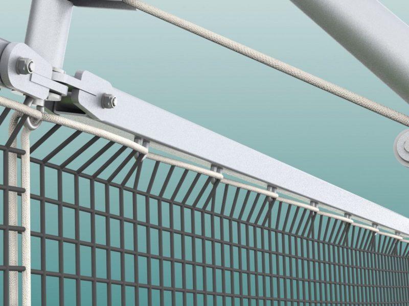 Stahldrahtseil für Ballfangnetze, Stärke 3/4 mm