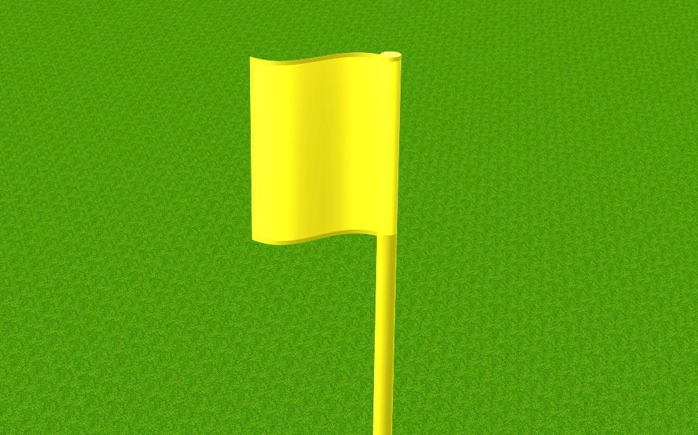 Eckfahnentuch in gelb von artec Sportgeräte