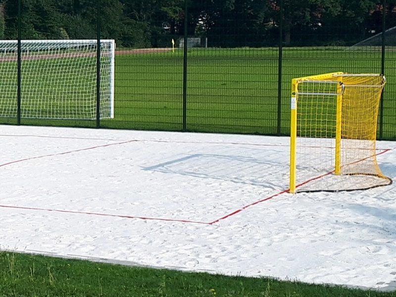 Beach-Handball Spielfeldmarkierung