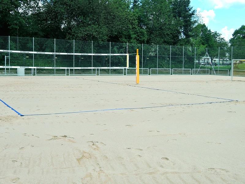 Spielfeldmarkierung Beachvolleyball