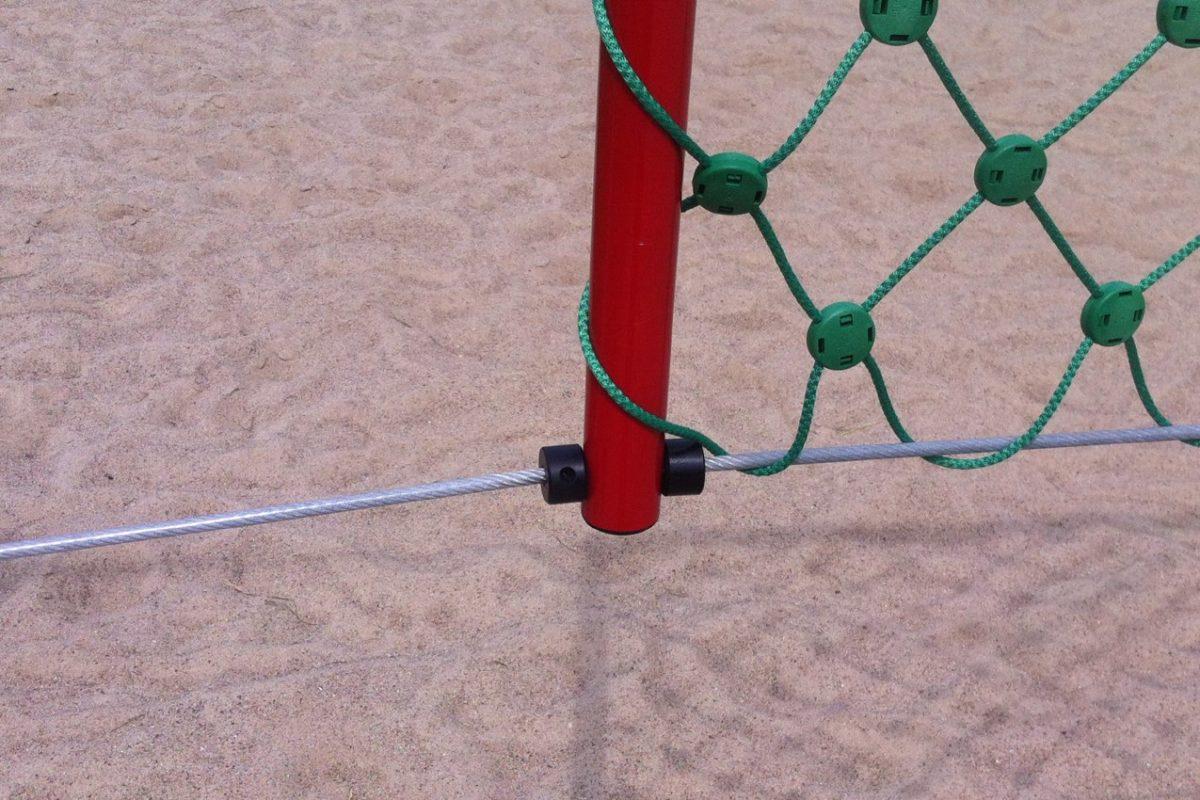 Volleyballnetz Herkules aus Polypropylen 5 mm mit Stahleinlage, Maschenweite: 100 x 100 mm, Farbe: grün von artec