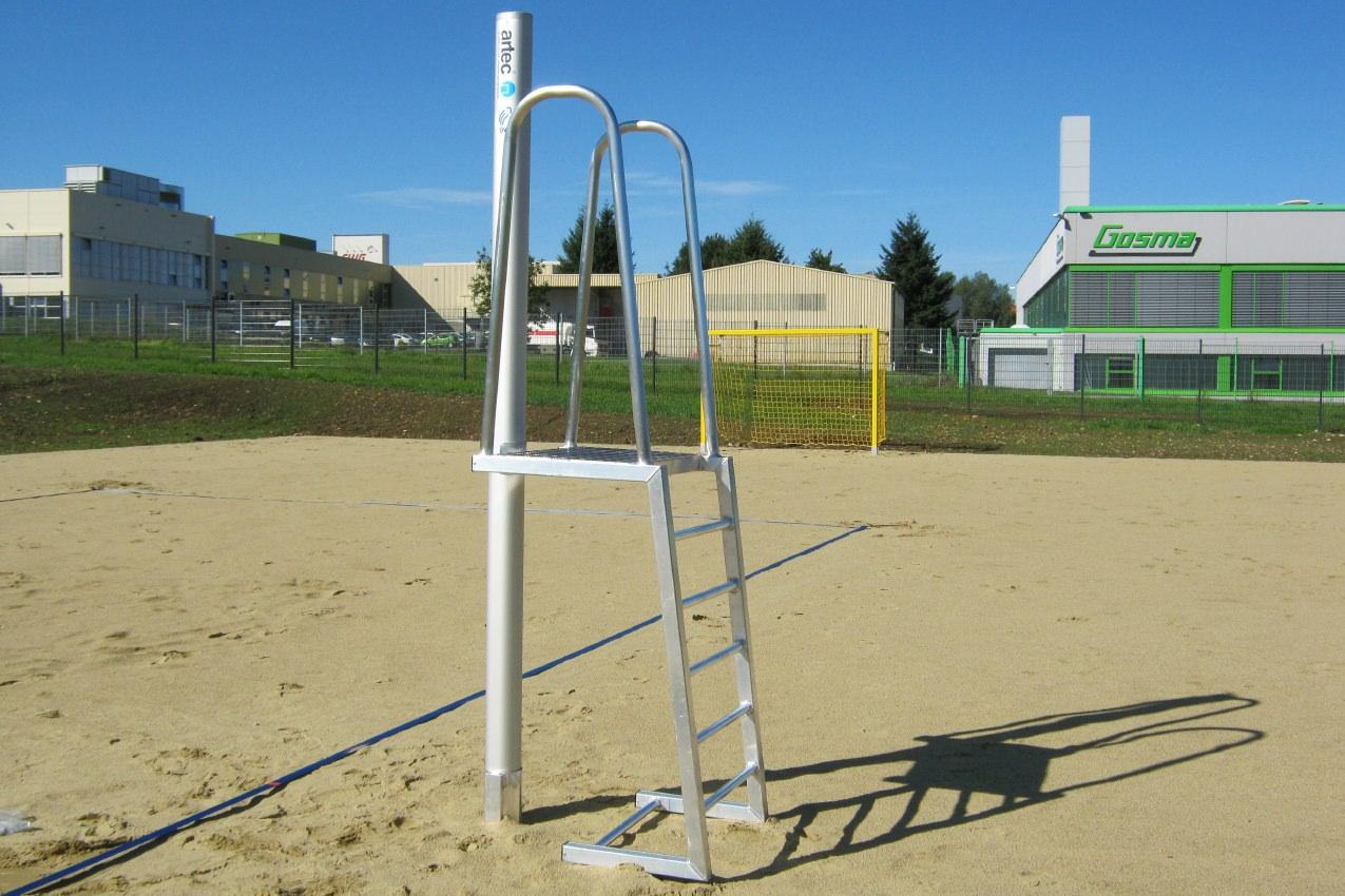 Beachvolleyball Schiedsrichterpodest, aus Aluminium gefertigt von artec Sportgeräte